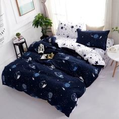 Space Star Bedding For Kids Boys Girls Bedding Sets Super Soft Bed Sheet Set Microfiber Bed Sheets Sets by STFLY Space Galaxy Full/Queen *** Find out more at the picture link. (This is an affiliate link). Star Bedding, King Size Bedding Sets, Girls Bedding Sets, Cheap Bedding Sets, Best Bedding Sets, Duvet Bedding, Luxury Bedding Sets, Affordable Bedding, Linen Duvet