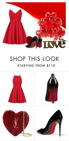 """Love"" by anahcamilo on Polyvore featuring moda, Chi Chi, Christian Louboutin e Yves Saint Laurent"