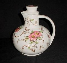 GORGEOUS Vintage Nasco 'Springtime' Lovely Pink Flowers Tea Jug Pitcher Decanter