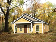 062H-0144: Vacation House Plan Offers 2 Bedrooms, 2 Baths & an Open Floor Plan; 1050 sf