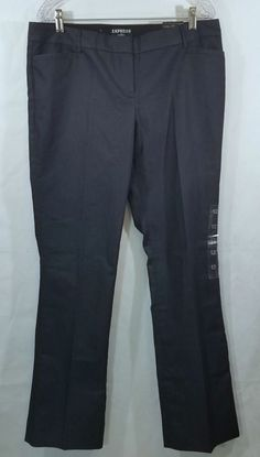 22d8a80c1671 Express Columnist Barely Boot Studio Stretch Pants Dark Denim Blue 12 NEW   Express  DressPants