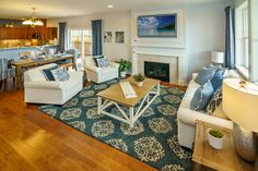 The Chaumont Living Room at Polygon at Villebois in Wilsonville, OR  #PolygonNWHomes #PolygonOR