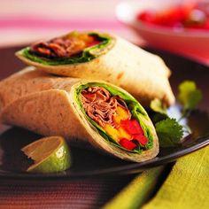 Thai beef & mango wraps recipe - Chatelaine.com