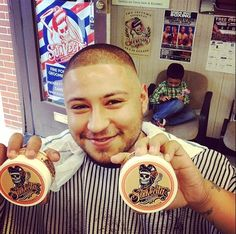 Ladies, remember the time you stole their pomade? Well the tables have turned! So good, they can't even resist it. Photo cred to @rubethebarber. www.suavecitapomade.com