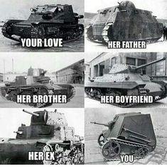 Military Memes, Army Memes, Humor Militar, History Memes, Funny History, Funny Images, Funny Pictures, Funny Tanks, War Thunder