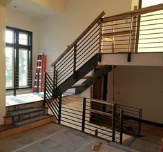 Steel rail being installed into a custom home...  ~ mikE™