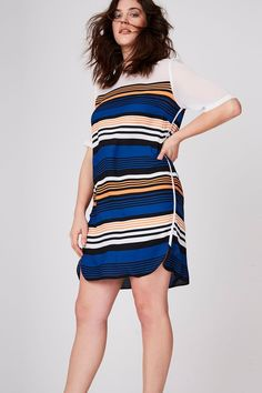 b3d1c3ffcf2b3 Striped Shift Dress Size Clothing