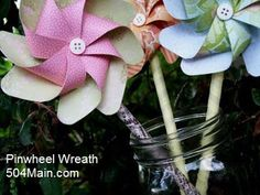 Intersting DIY suggestions- she suggests using a die. 504 Main by Holly Lefevre: Pinwheels...Spinning with Possibilities