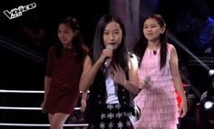 "Jiah Austria, Kiyana Bongat and Akisha Sianson performed their version of ""Kapag Tumibok Ang Puso"" by Donna Cruz on The Voice Kids Philippines Season 2 'Battle Rounds,' August 1, 2015."