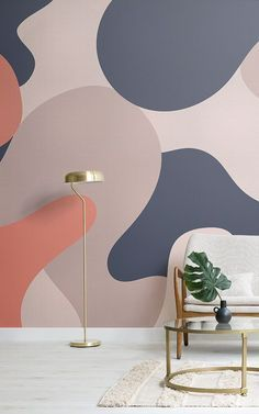 Creative Wall Painting, Room Wall Painting, Mural Wall Art, Creative Walls, Painted Wall Murals, Wall Paintings, Unusual Wallpaper, Camo Wallpaper, Wallpaper Wallpapers