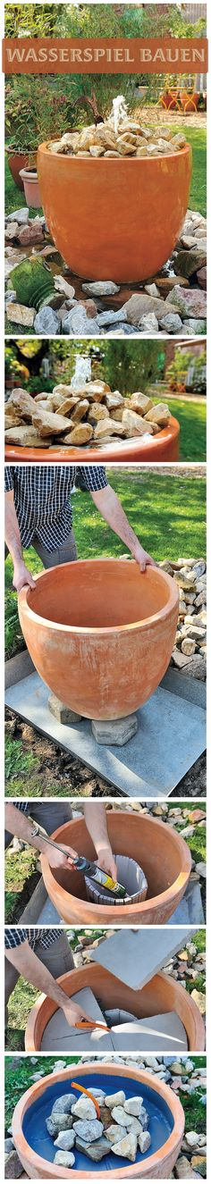 Rippling water in the garden relaxes – and our water feature is also a … - Diy Garden Projects