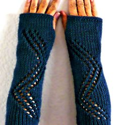 Knit Fingerless Gloves Knit Arm Warmers by Nothingbutstring