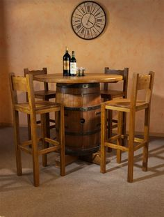 Belgian Oak Furniture - MK Moebel - Wine Barrel Table