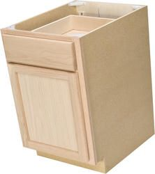 """Quality One™ 18"""" x 34-1/2"""" Unfinished Oak Base Cabinet with Drawer $58 @ Menards on sale"""
