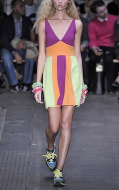 Moschino Cheap & Chic Multicolor Crepe Dress- want !!!!