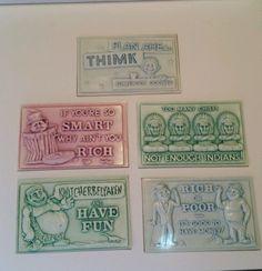 6 Vintage 3-D Plastic Post-Plax Postcards Funny Humorous Ephemera MAD Alfred