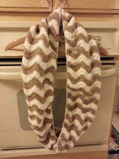 Crochet a Chevron Infinity Scarf by Crochet by J