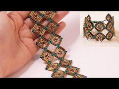 Beaded Dog Collar, Beaded Jewelry, Beaded Bracelets, Bugle Beads, Beading Tutorials, Projects To Try, Diy, Seed Beads, Bracelets