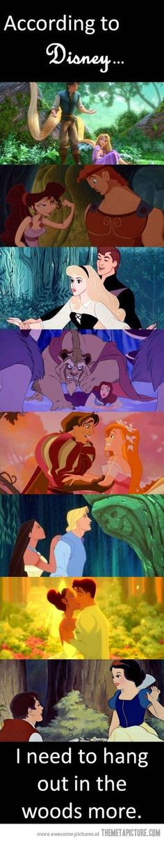 According to Disney…I knew there was a reason I loved the woods so much