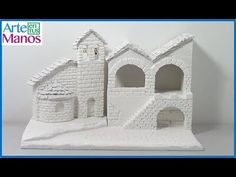 How to build Stay and Bell Tower for Polystyrene Nativity and Recycled Cardboard Step by Step 1 Popsicle Stick Crafts House, Craft Stick Crafts, Christmas Baby, Christmas Crafts, Styrofoam Crafts, Recycling, Free To Use Images, Christmas Villages, Mixed Media Canvas
