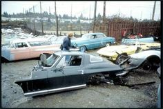 Corvette junkyard