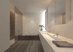 Rectangular sink, double taps.