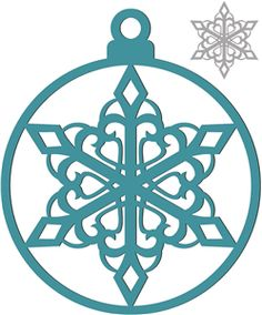 Silhouette Online Store - View Design #35910: christmas ornament snowflake