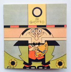 Antonio Rubino, O di Giotto, copertina, da La scuola dei giocattoli, Scalpendi, 2013.