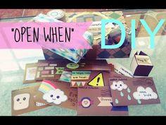 """DIY ❤ Cartas """"Abrela Cuando"""" ❤ """"OPEN WHEN"""" ❤ Detalles para tu novio ❤ - YouTube"""