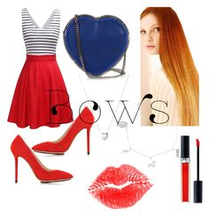 """""""Bows"""" by titania199 ❤ liked on Polyvore featuring Charlotte Olympia, STELLA McCARTNEY, Links of London, Christian Dior and NYX"""