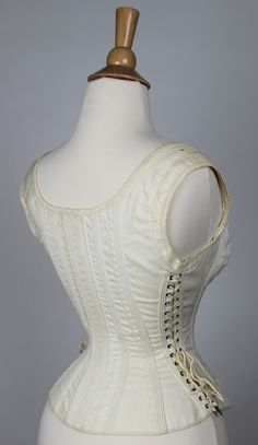 Comfort Corset, Side Lacing Maternity, Sports or Riding Corset 1875-1885