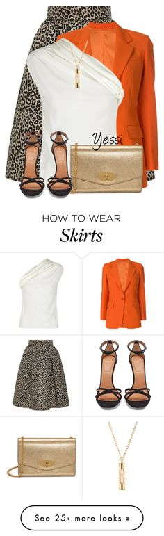 """""""~ Leopard Skirt ~"""" by pretty-fashion-designs on Polyvore featuring Dondup, Lanvin, Mulberry and Givenchy"""