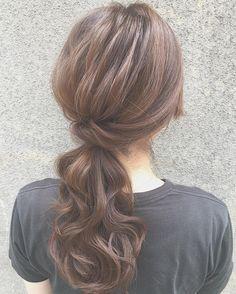 面長さんも小顔に見える♡コンプレックス解消アレンジ10選 - Locari(ロカリ) Cute Hairstyles, Wedding Hairstyles, 2a Hair, Hair Arrange, Hair Goals, Hair And Nails, Asian Beauty, Bridal Hair, Hair Inspiration