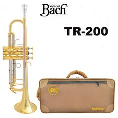 (228.00$)  Watch here - http://aiugb.worlditems.win/all/product.php?id=32693050124 - Fast Shipping New Bach Trumpet TR-200 Three-color small series of brass instruments Trompeta cupronickel Bb trumpet