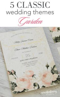 what 5 wedding themes do you think will never go out of style invitations by dawn shares 5 classic wedding themes that will inspire brides - When Do Wedding Invites Go Out