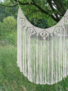 Macrame curtain bohemian decor wedding backdrop by MOXmacrame