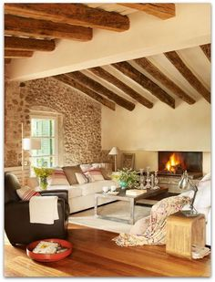Art Symphony: Old Barn Turned Into a Cozy Home, France