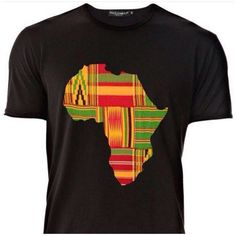 Africa Map Shirts (Men) (48 CAD) ❤ liked on Polyvore featuring tops, t-shirts, black, women's clothing, african tops, shirts & tops, black top, black t shirt and african t shirts