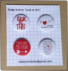 scrapbooking button badge ♥