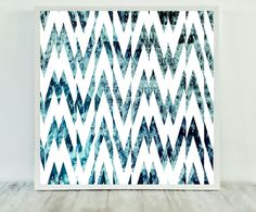 Chevron Teal Print, Teal Chevron Print, Abstract Teal Print, Abstract Print Teal, Abstract Chevron Art, Instant Download, Modern Art Print by CristylClear on Etsy