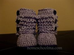 Crochet Ugg inspired Baby Boots Grey Black sole & by homeschoolma, $33.00