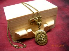 Steampunk Butterfly Locket Necklace  Gift Box by mythicaljewelry, $19.99
