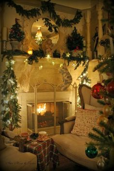 Warm Holiday fireplace - Aiken House: Winter Solstice /  - -Bookmark  Your Local…