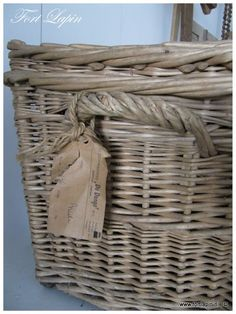 I love gorgeous old baskets