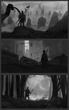 ArtStation - comp sketches 02, florent lebrun