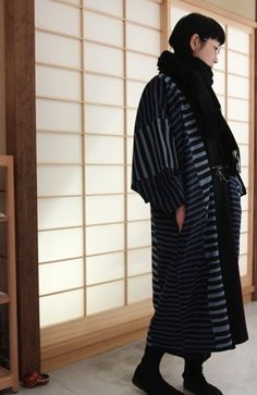 Reversible Kimono robe, Haori