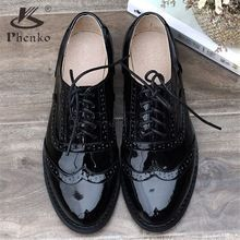 women oxford Flat spring shoes for woman genuine leather flats summer brogues vintage laces loafers casual sneakers shoes 2020 Shoe Boots, Ankle Boots, Women's Shoes, Shoes Men, Oxford Shoes For Women, Golf Shoes, Brogues, Loafers, Oxford Flats