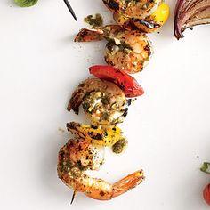 Pesto Shrimp Kebabs | CookingLight.com
