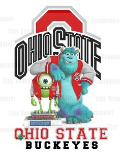 Monsters University Inspired Ohio State Buckeyes - Digital File - Any Team Available by special request
