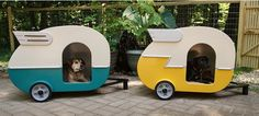 """retro trailer dog houses......I don't have a """"dog"""" board......so pinned to my glamping board. These dog houses are awesome!!!"""